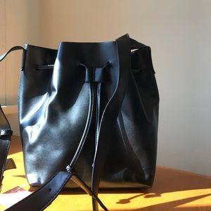 NEW. Melle Bianco Black Vegan Bucket Bag